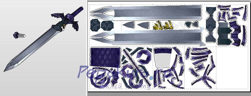 Link Sword papercraft