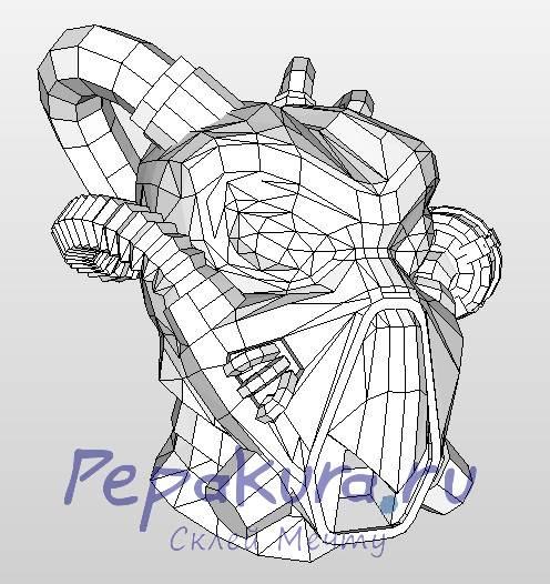 Шлем Анклава из бумаги