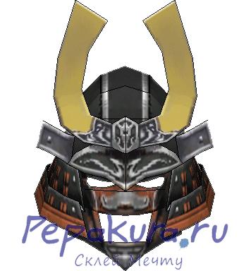 samurai helmet papercraft