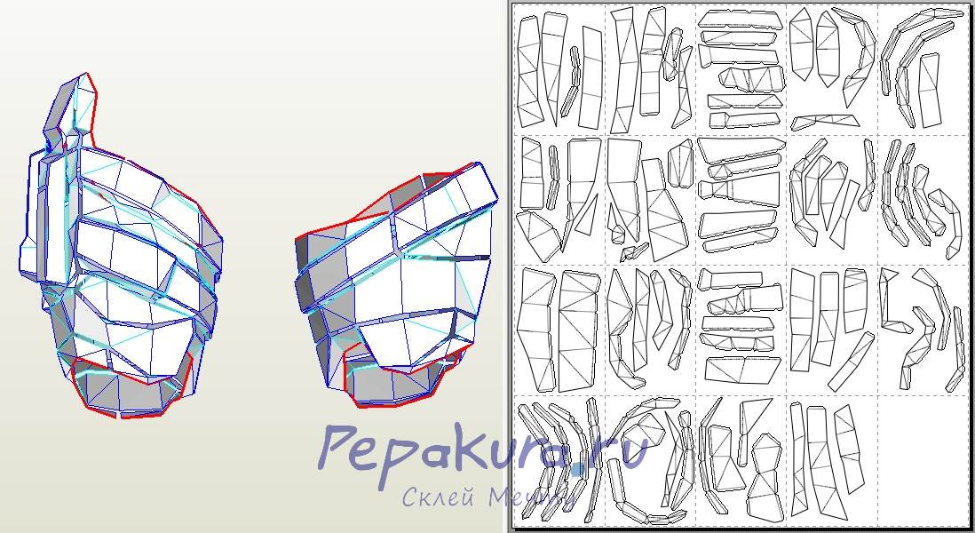 Deathstroke Thighs papercraft