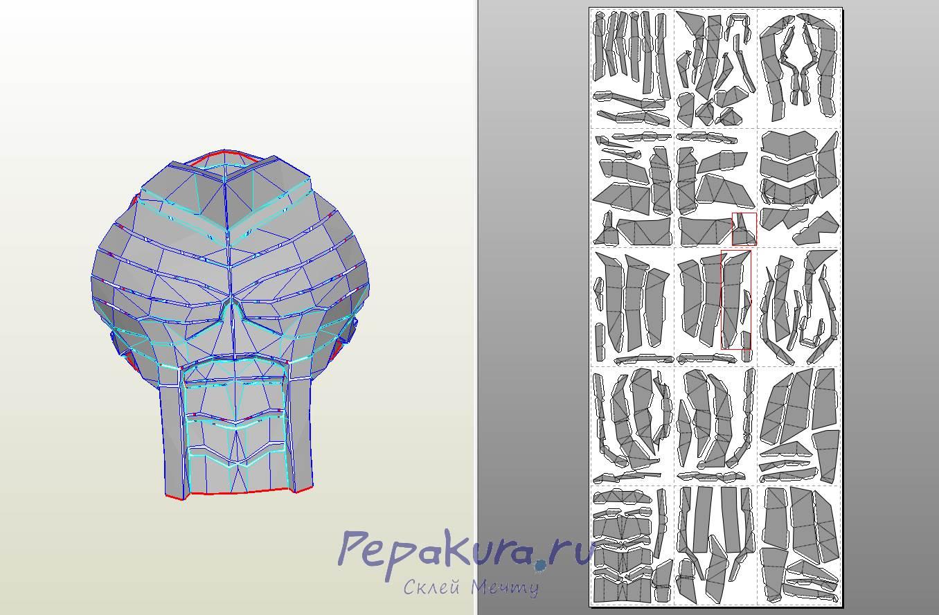 Deathstroke armor papercraft