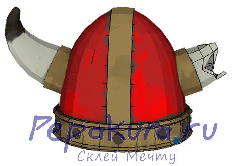 Шлем Викинга сделать из бумаги