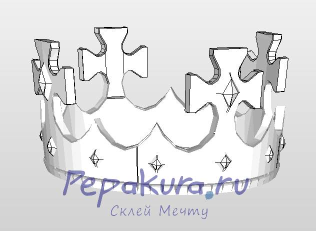 crown pdo papercraft