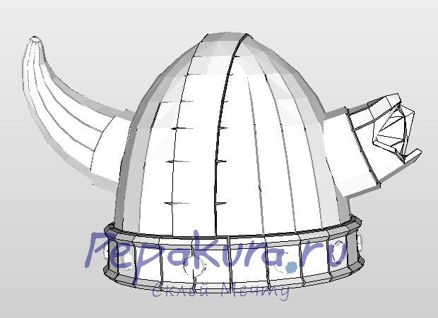 viking helmet papercraft