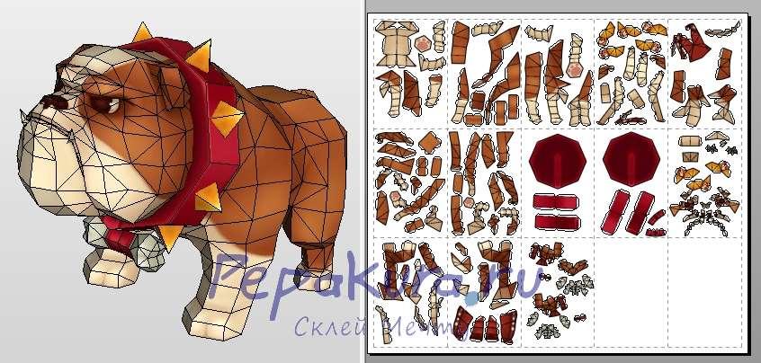 Bouledog papercraft