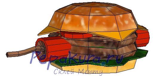 Гамбургер с динамитом из бумаги