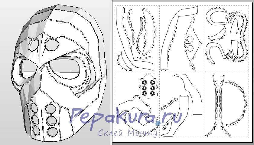 Сделать маску из бумаги