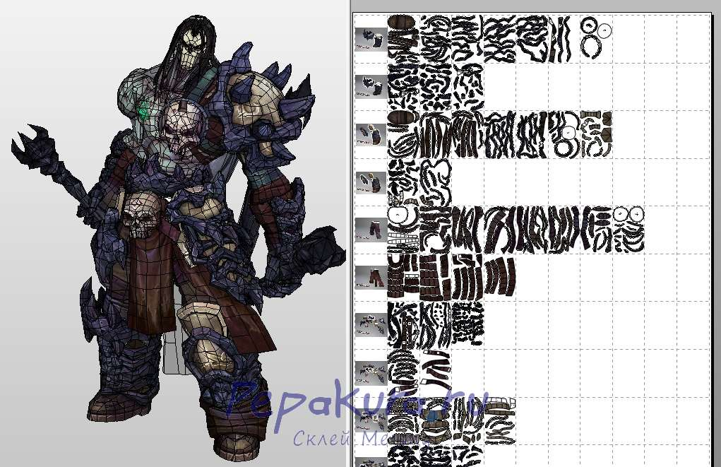Death papercraft Darksiders 2