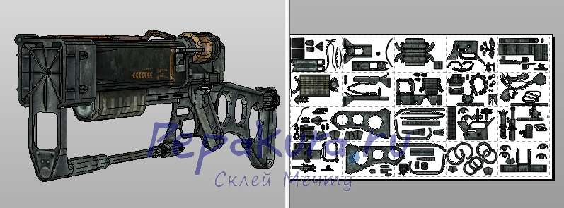Laser rifle papercraft