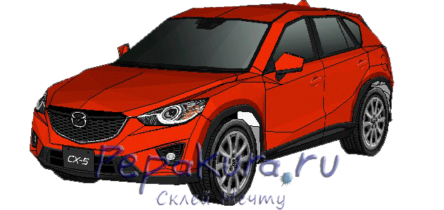 Mazda CX-5 papercraft