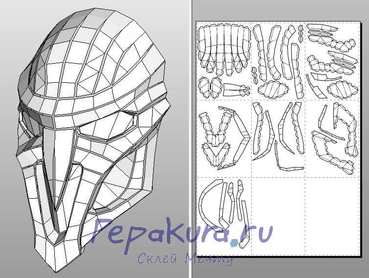 Overwatch reaper mask papercraft