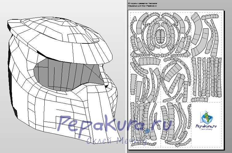 predator motorcycle helmet papercraft