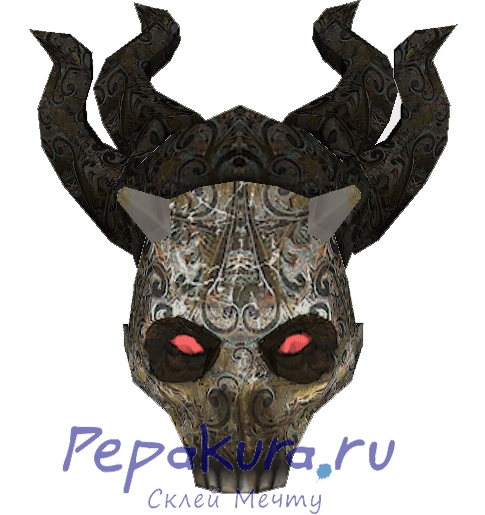 Demonic-mask-papercraft