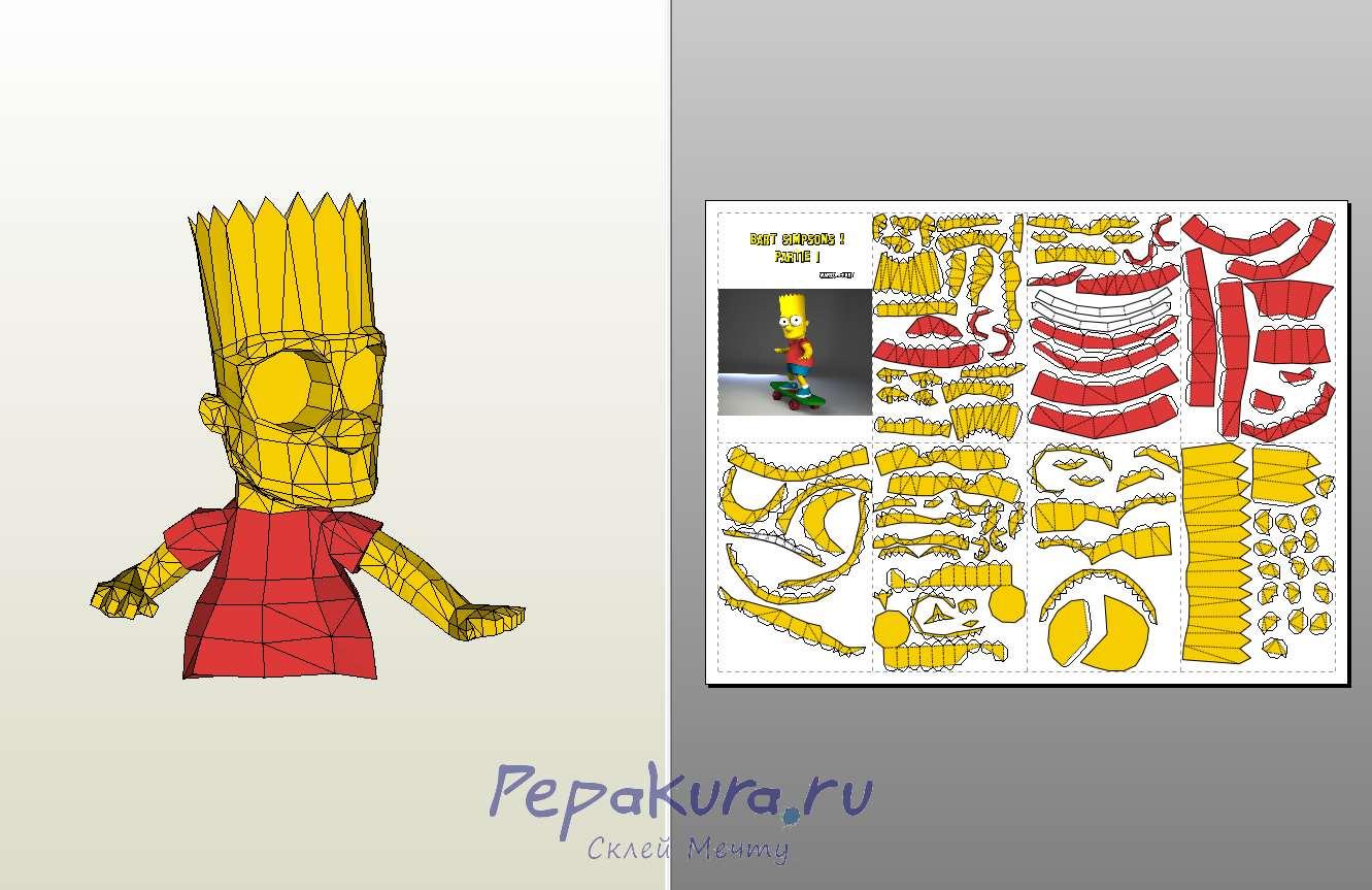 Фигурка Барта Симпсона своими руками