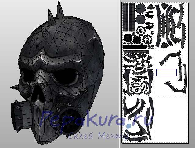 MetalHead mask papercraft
