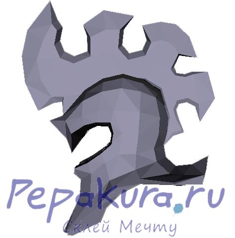Шлем Пантеона из бумаги