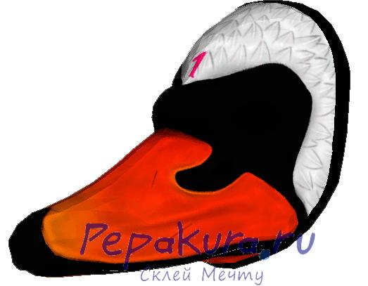 Swan mask papercraft