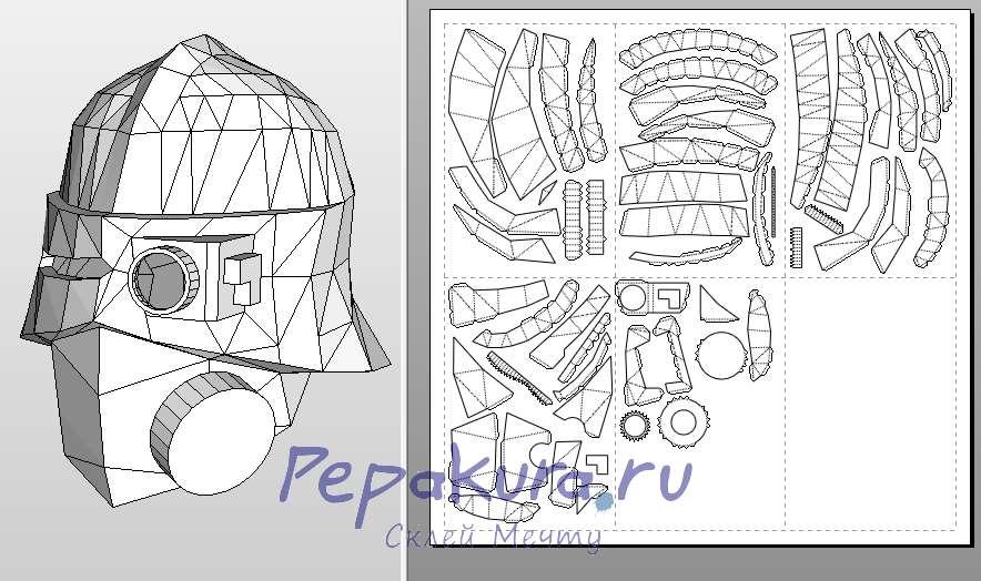 шлем космодеса крестоносца