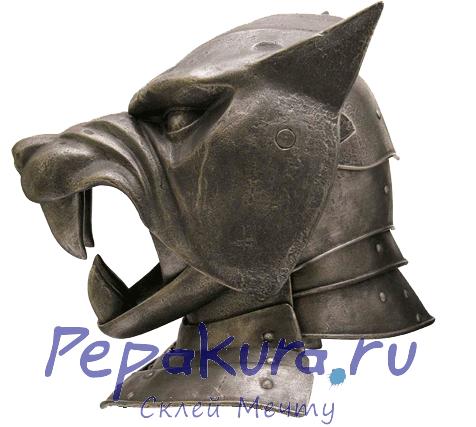 Развертка шлема Пса из бумаги