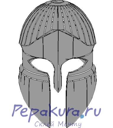 Сделать греческий шлем из бумаги