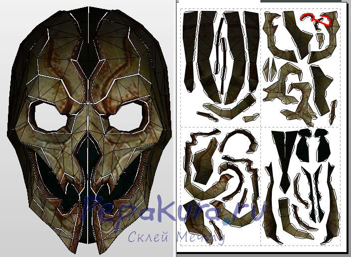 Shadow Scale mask papercraft