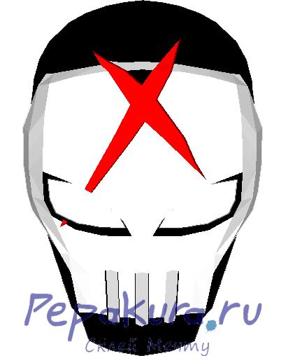 Скачать развертку шлема Red-X