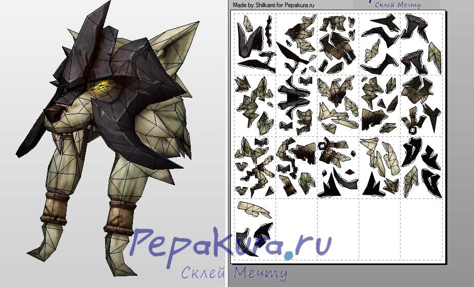 shaman head papercraft