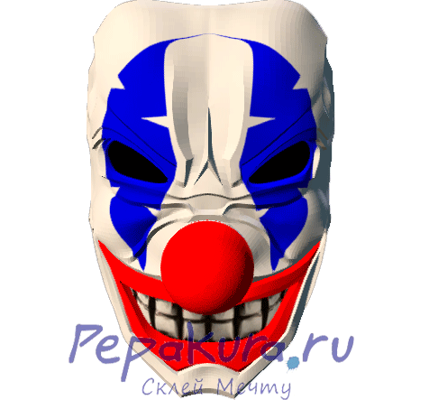 Clown Bozo mask papercraft
