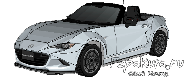 Mazda Roadster papercraft download template