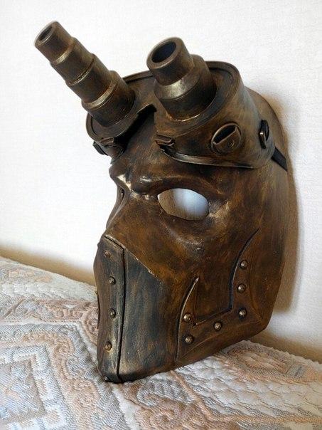 Стимпанк маска косплей