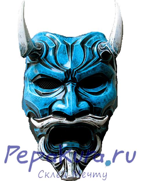 Японская маска из бумаги сделать