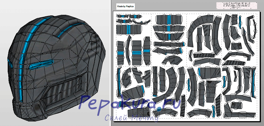 Download template Dark Raid helmet