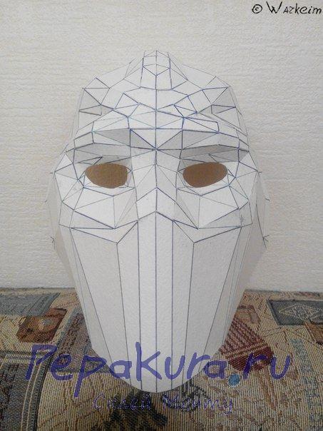 Хоккейная маска из бумаги