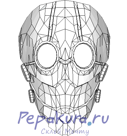 Mask of distortion pdo papercraft