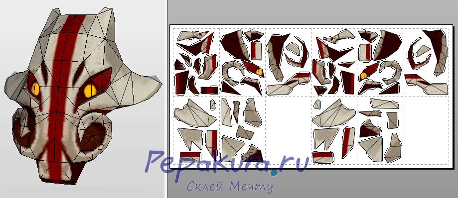 Маска Борова из Дота 2 Boar Mask papercraft