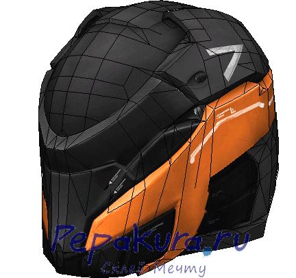 Модель шлема V5 из бумаги
