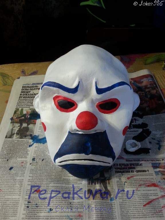 Покраска маски Джокера финальный этап