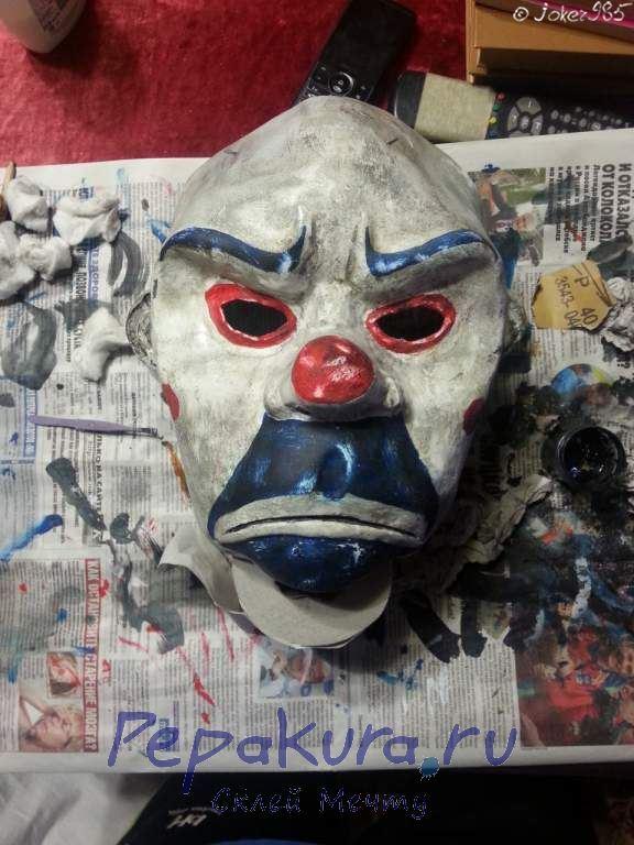 Покраска маски Джокера финал