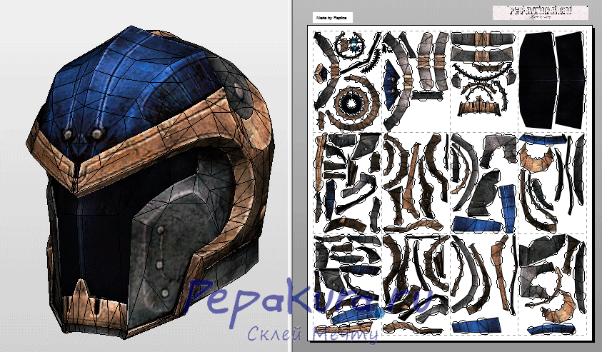 Reckoner knight helmet template