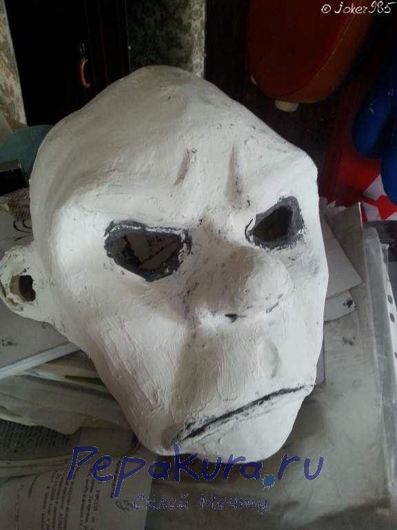 Шпатлевание маски