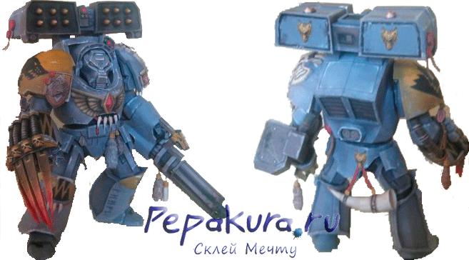 Terminator statuette from paper