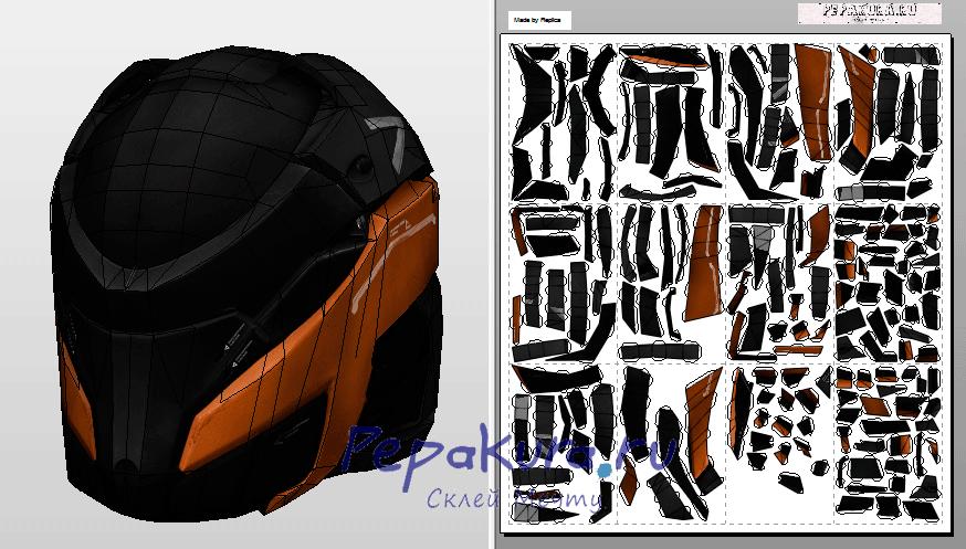 V5 helmet download papercraft