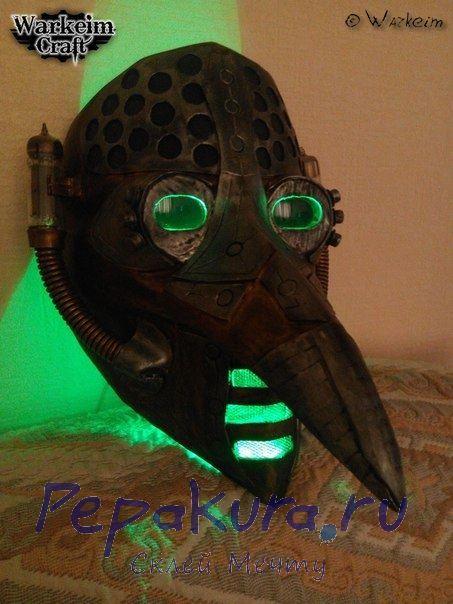 Готовая маска чумного доктора с подсветкой