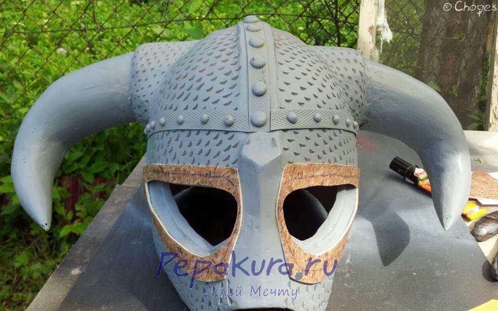 Линолеум и грунт шлема Довакина