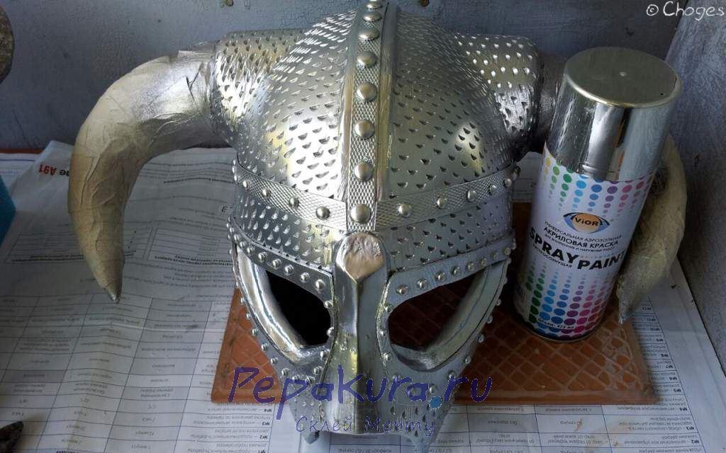 Покраска шлема Довакина базовый цвет