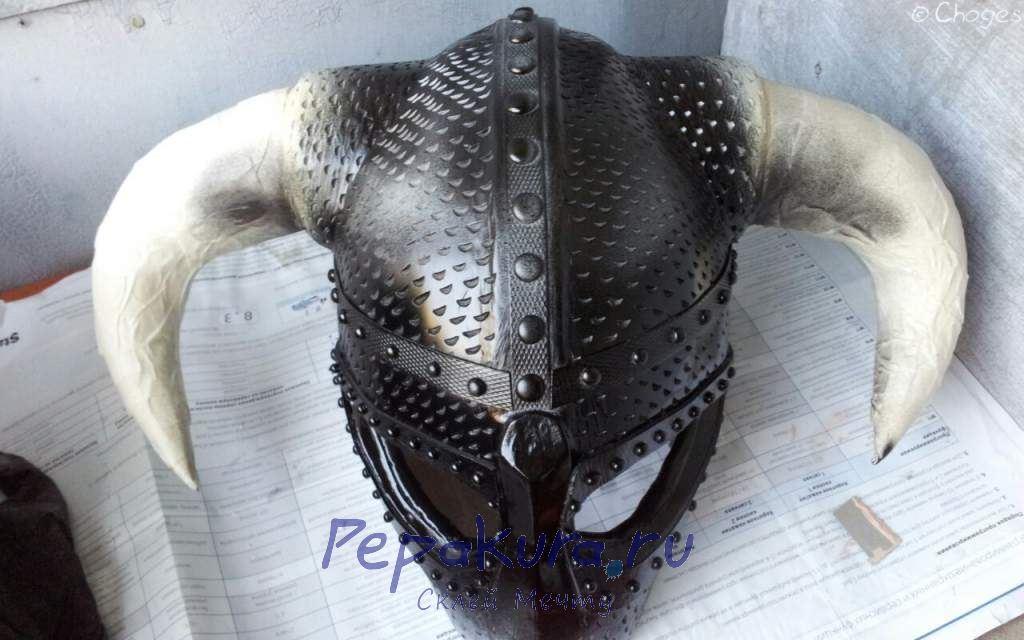 Покраска шлема Довакина подложка