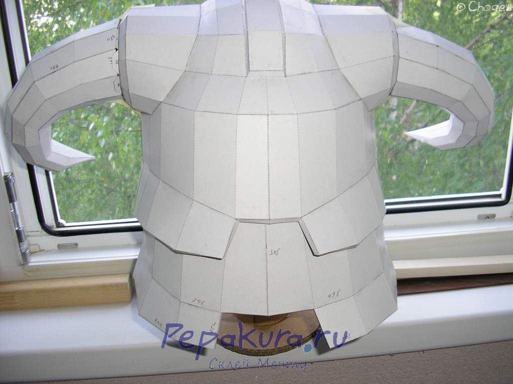 Шлем Довакина из бумаги