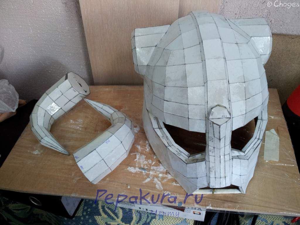 Шлем Довакина слой эпоксидной смолы