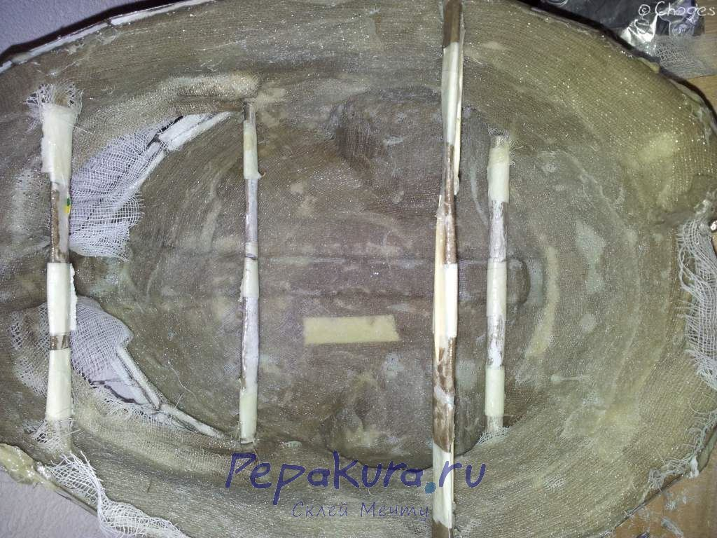 Шлем Довакина укрепление бинтами и распорки