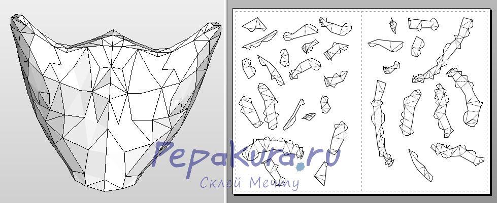 Сделать маску соловья своими руками - Nightingale Mask papercraft